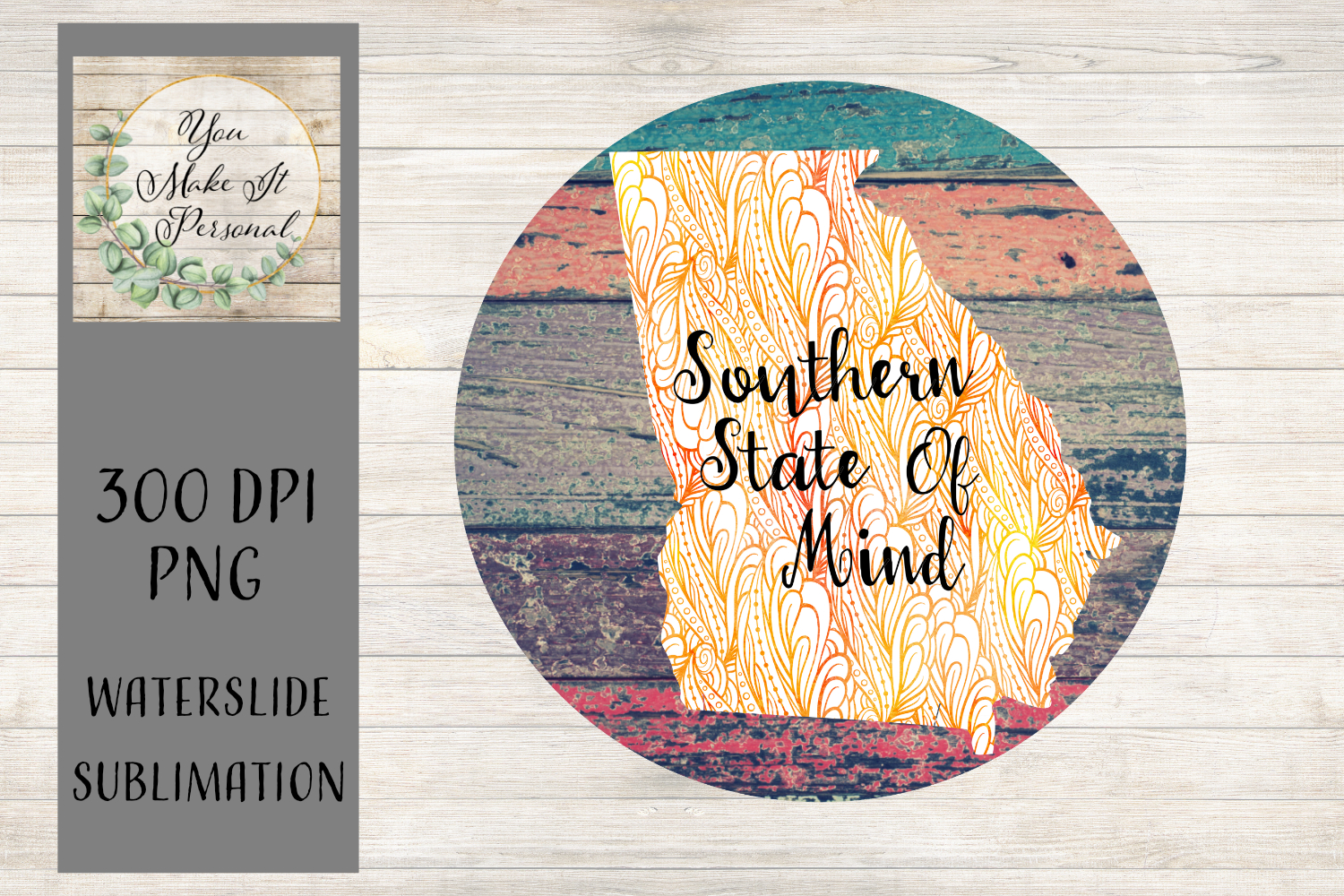 Southern State of Mind, Grunge Background, Georgia example image 1
