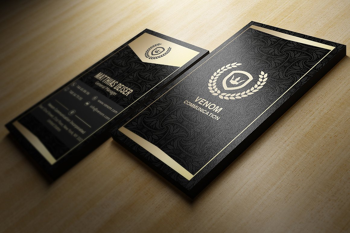Gold And Black Business Card example image 3