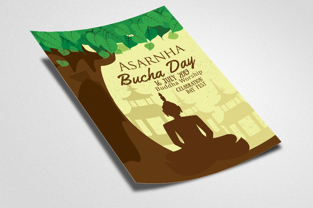 Asarnha Bucha Day Flyer Template example image 2