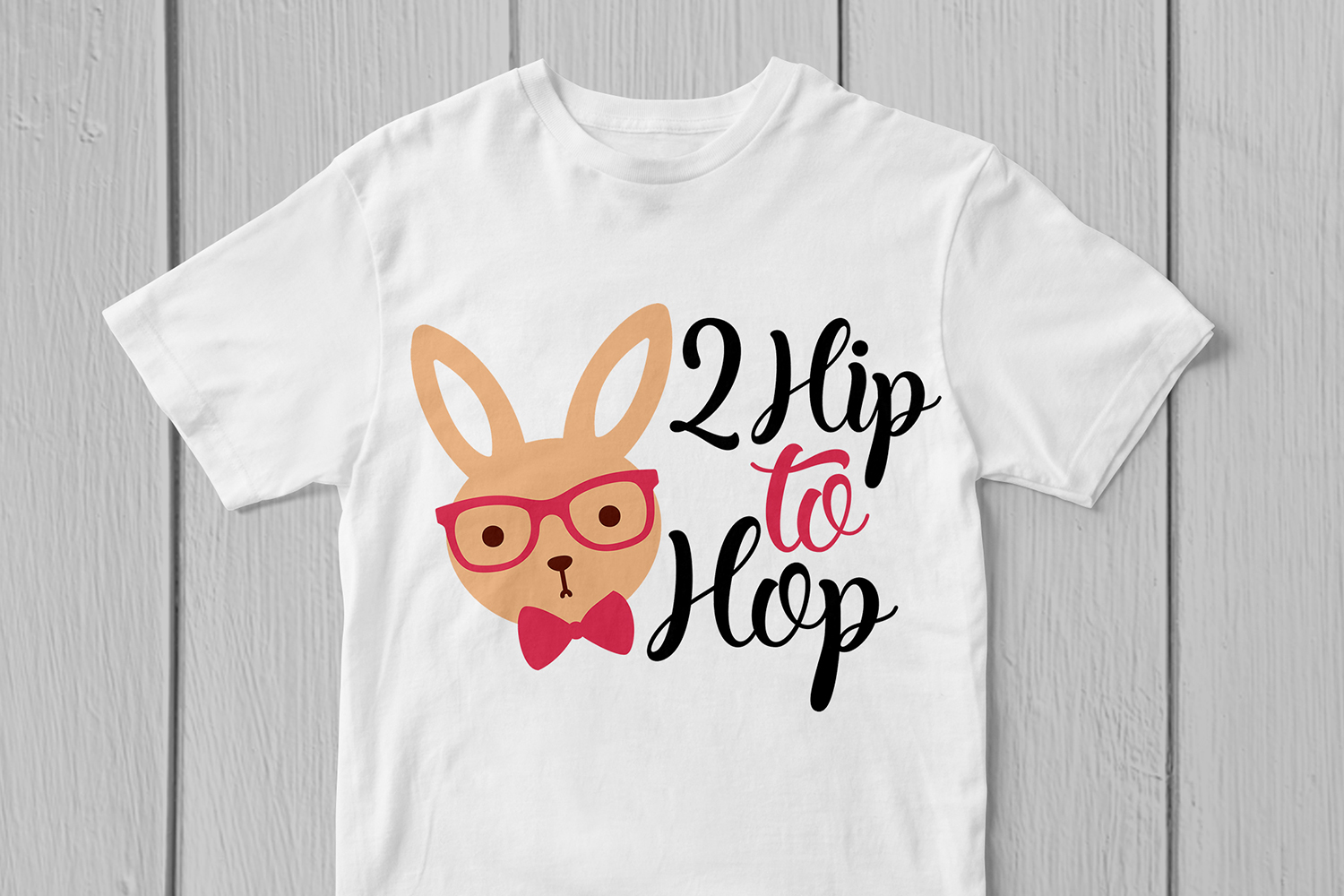 2 Hip To Hop - Easter SVG EPS DXF PNG Cutting Files example image 2