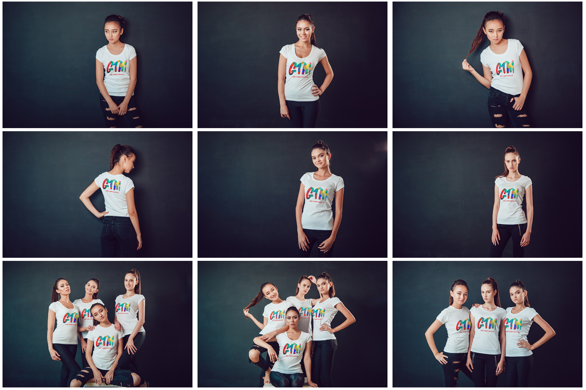 Women's T-shirts Mock-Up Vol 2 example image 5