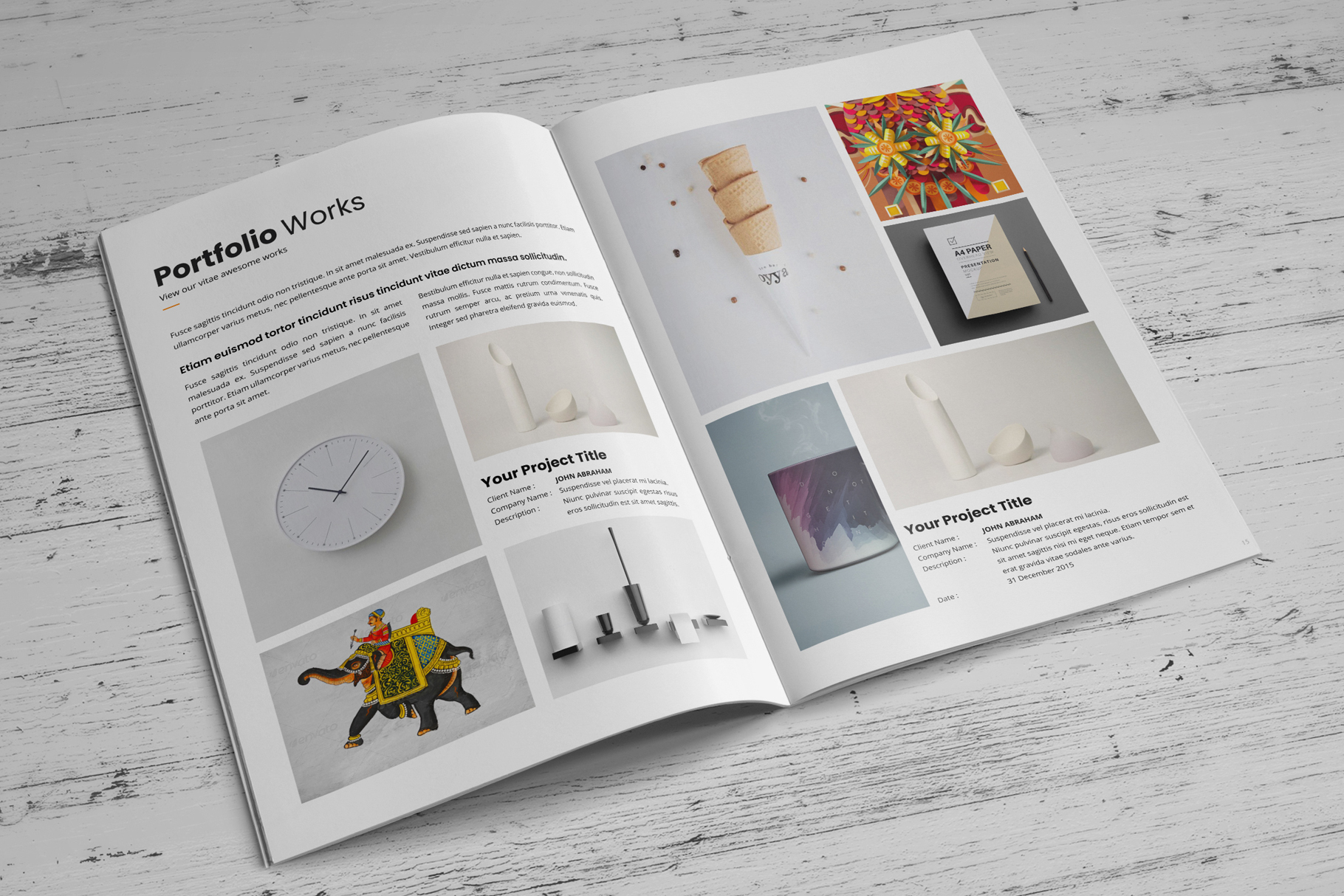 Portfolio Brochure Design v4 example image 6