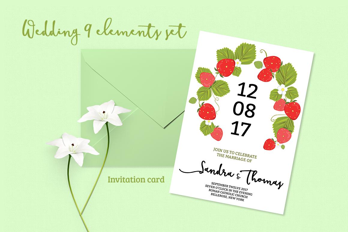 Summer Wedding Invitiation Set example image 1