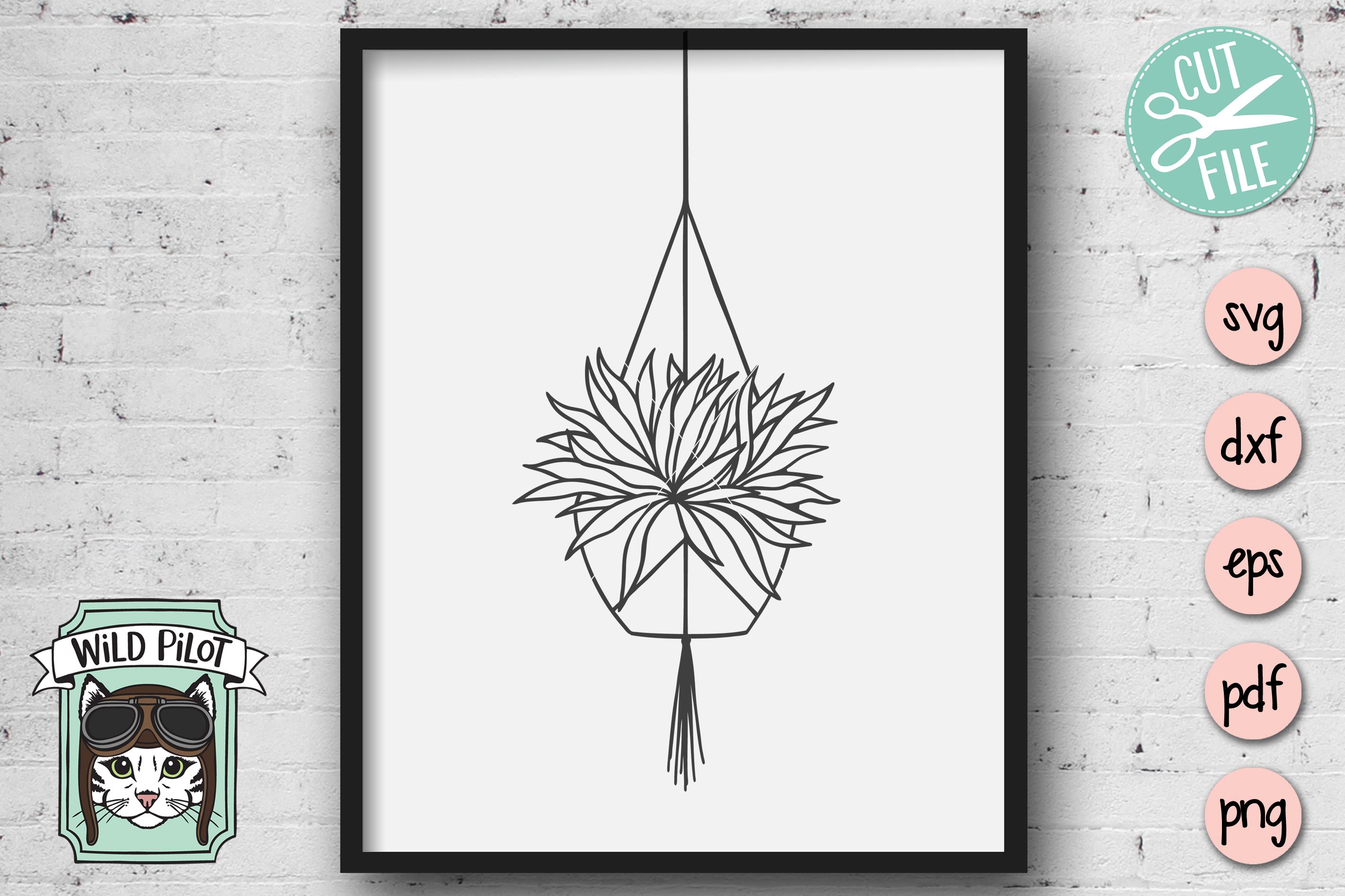Hanging Plants SVG files, Plants cut files, Planters, Garden example image 3
