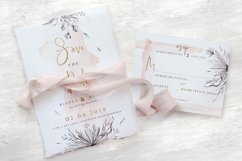 Peach & Grey Floral Wedding Suite example image 1