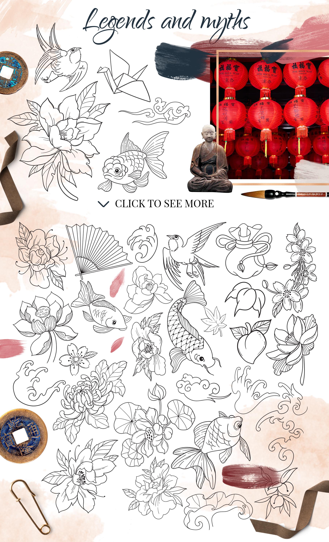 Oriental dreams design set example image 4