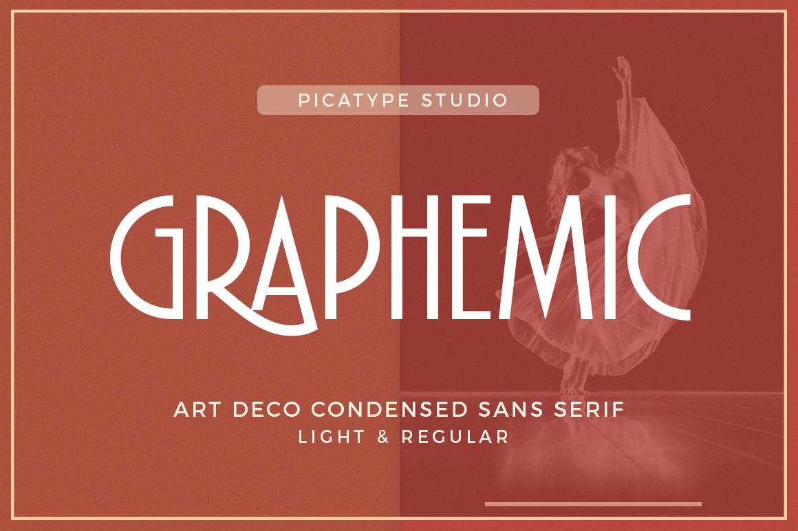Graphemic | Deco Condensed Sans example image 1