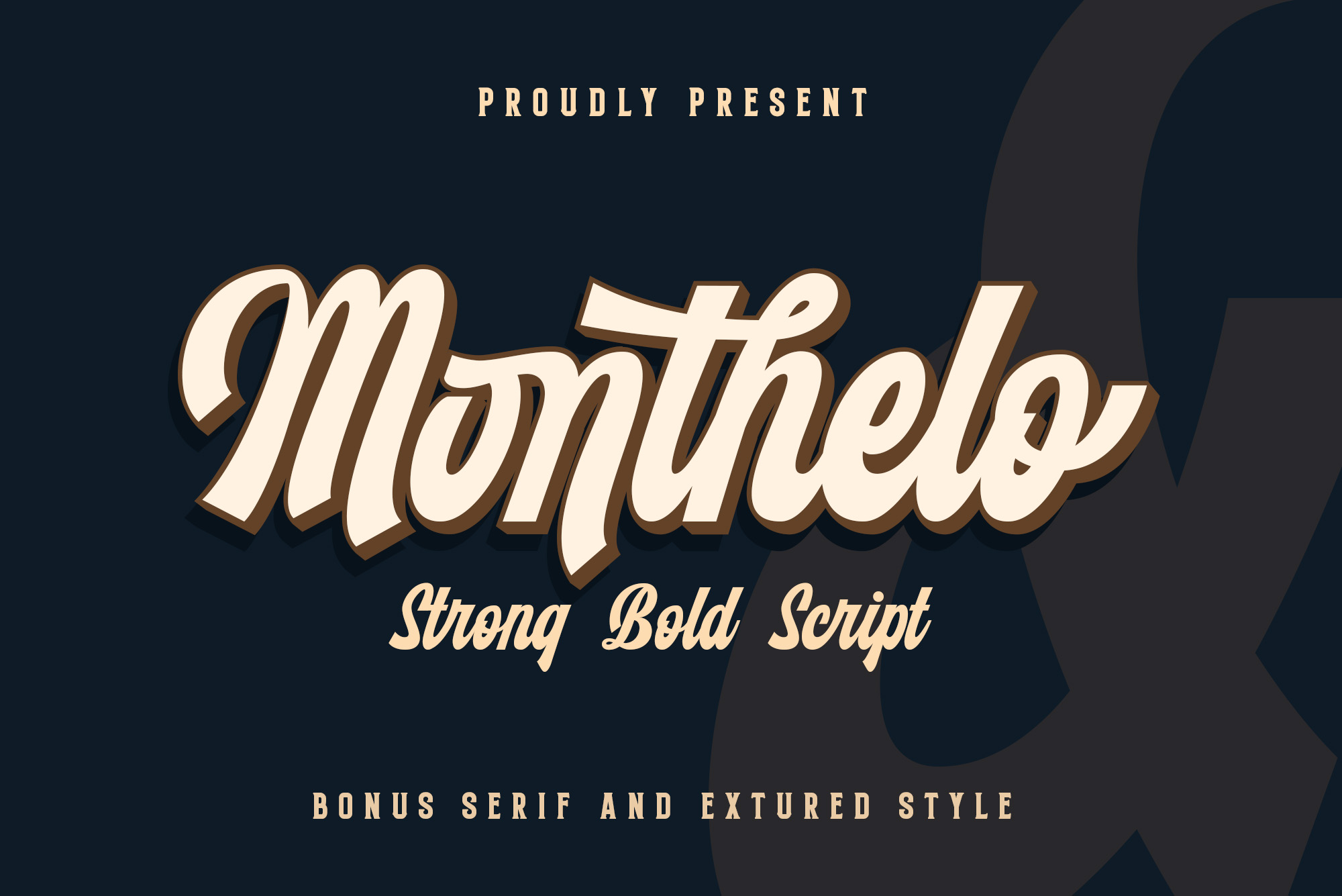 Monthelo - 3 font example image 1