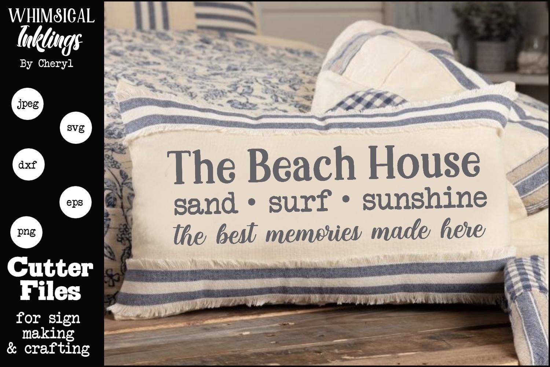 Beach House Memories SVG example image 1