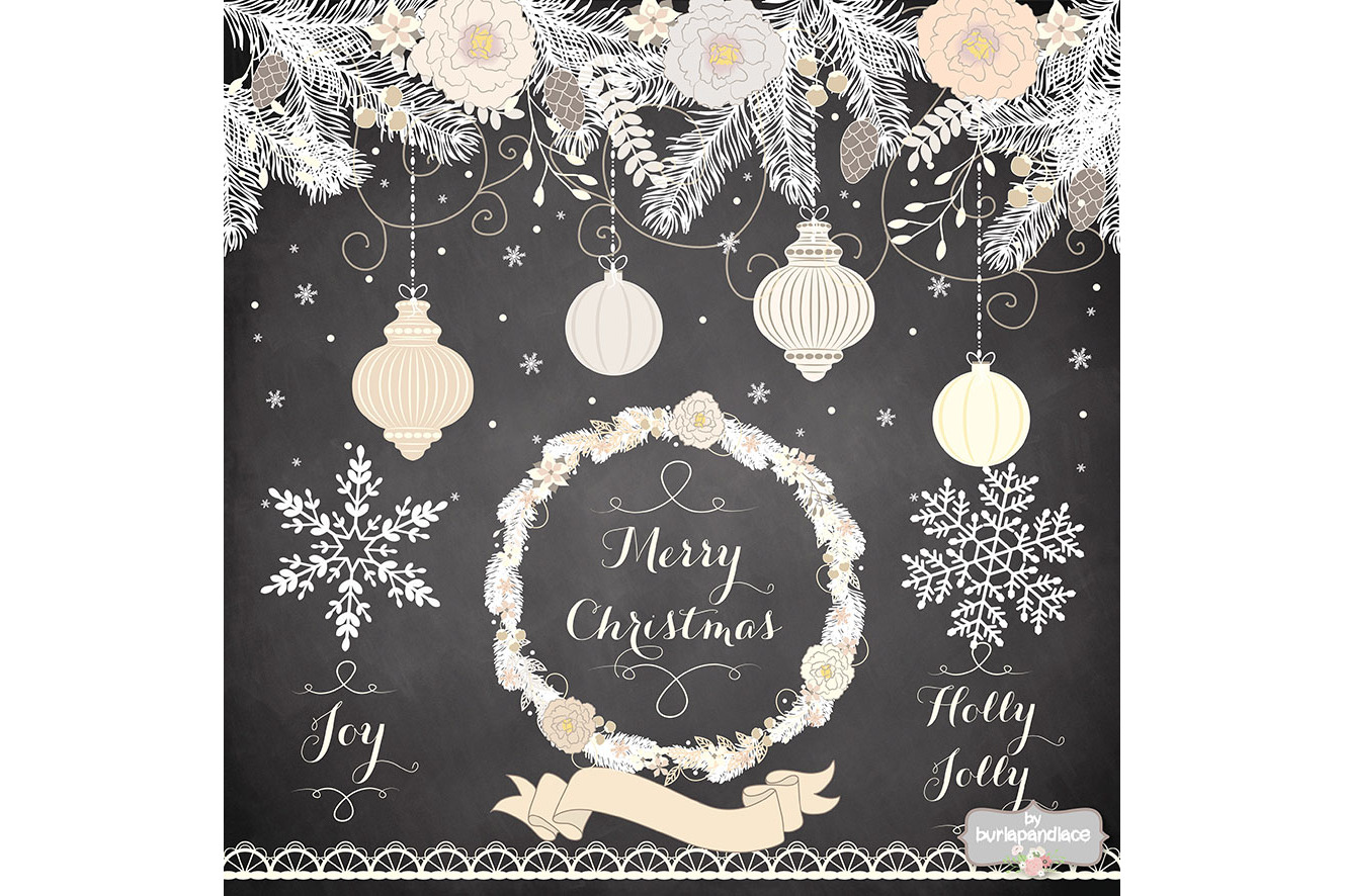 Vintage rustic floral christmas design example image 3