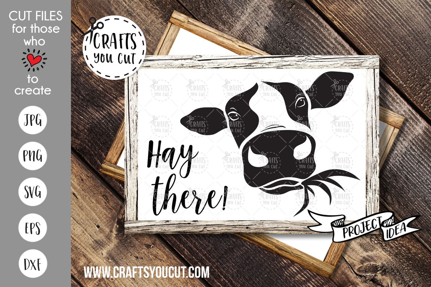 Hay There! - A Cow SVG Cut File example image 1
