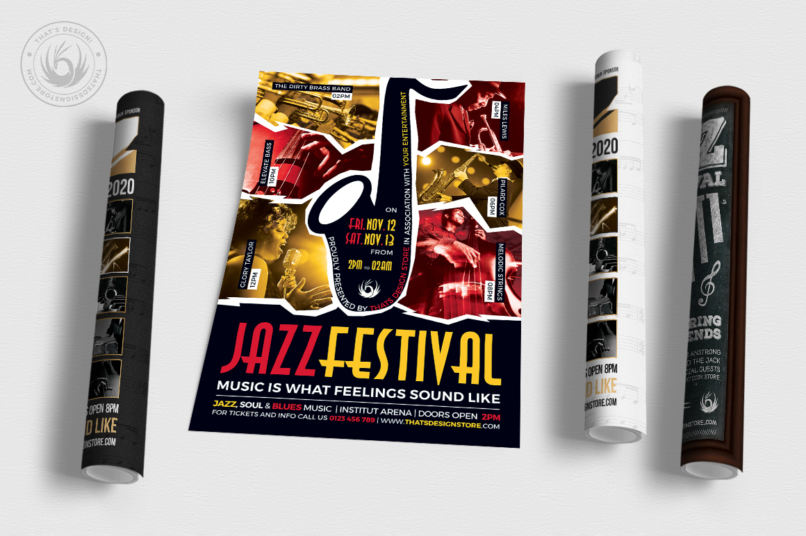 Jazz Festival Flyer Bundle V3 example image 2