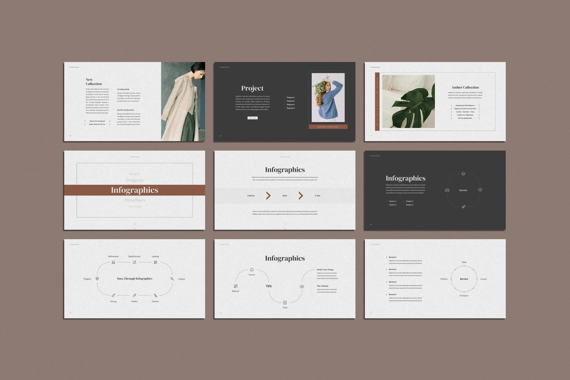 Vermillion PowerPoint Presentation Template example image 9