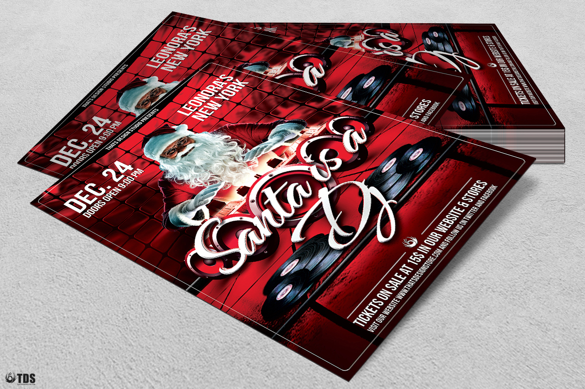 Santa is a DJ Flyer Template example image 4