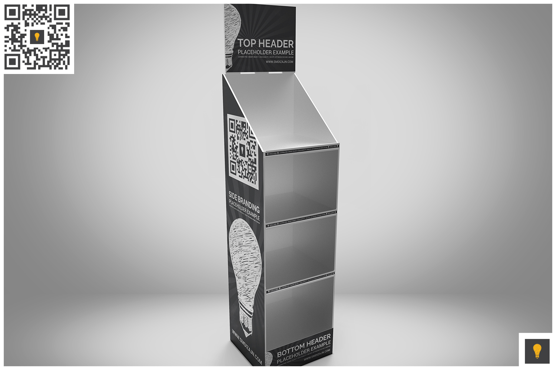 Promotional Store Shelf Stand Mockup example image 4