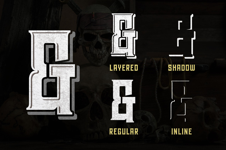 Hardsign - Layered Vintage Font example image 6