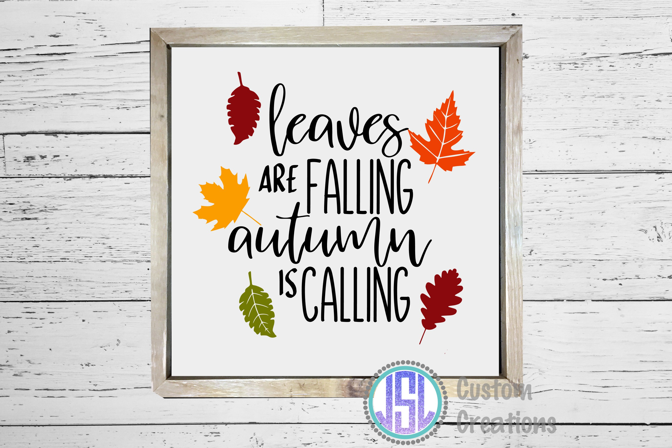 Leaves are Falling Autumn is Calling | SVG DXF EPS PNG example image 2