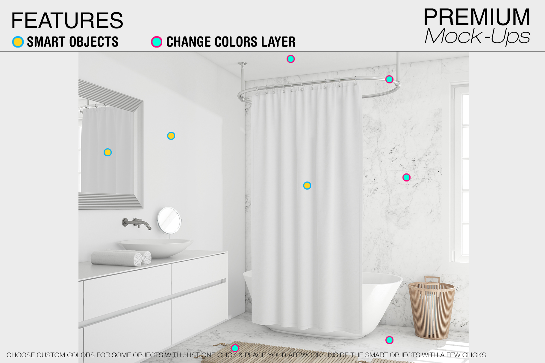 Shower Curtain Mockup Pack example image 16