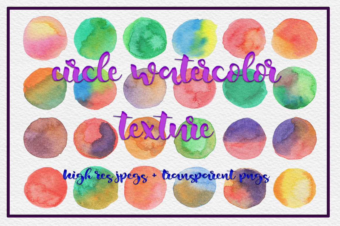 72 Circle Watercolor Textures example image 1