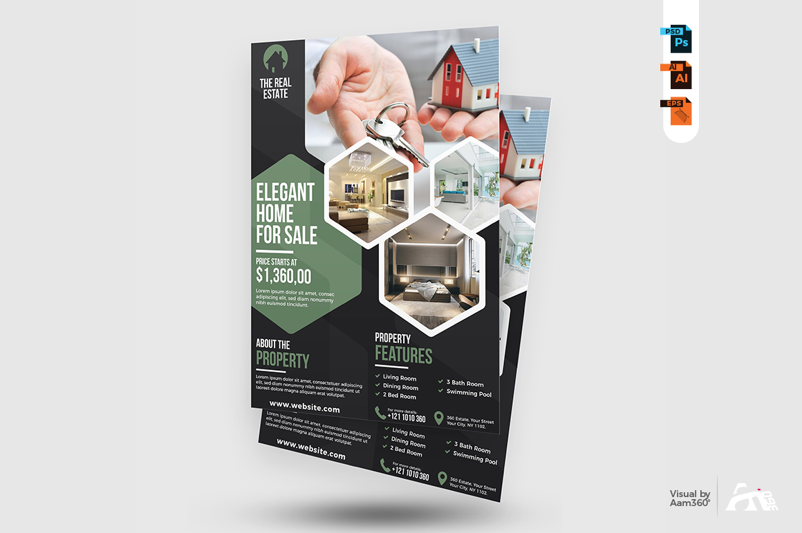 Real Estate Flyer Template example image 3