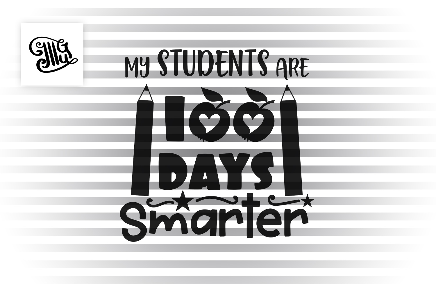 100 days of school for teacher svg example image 2
