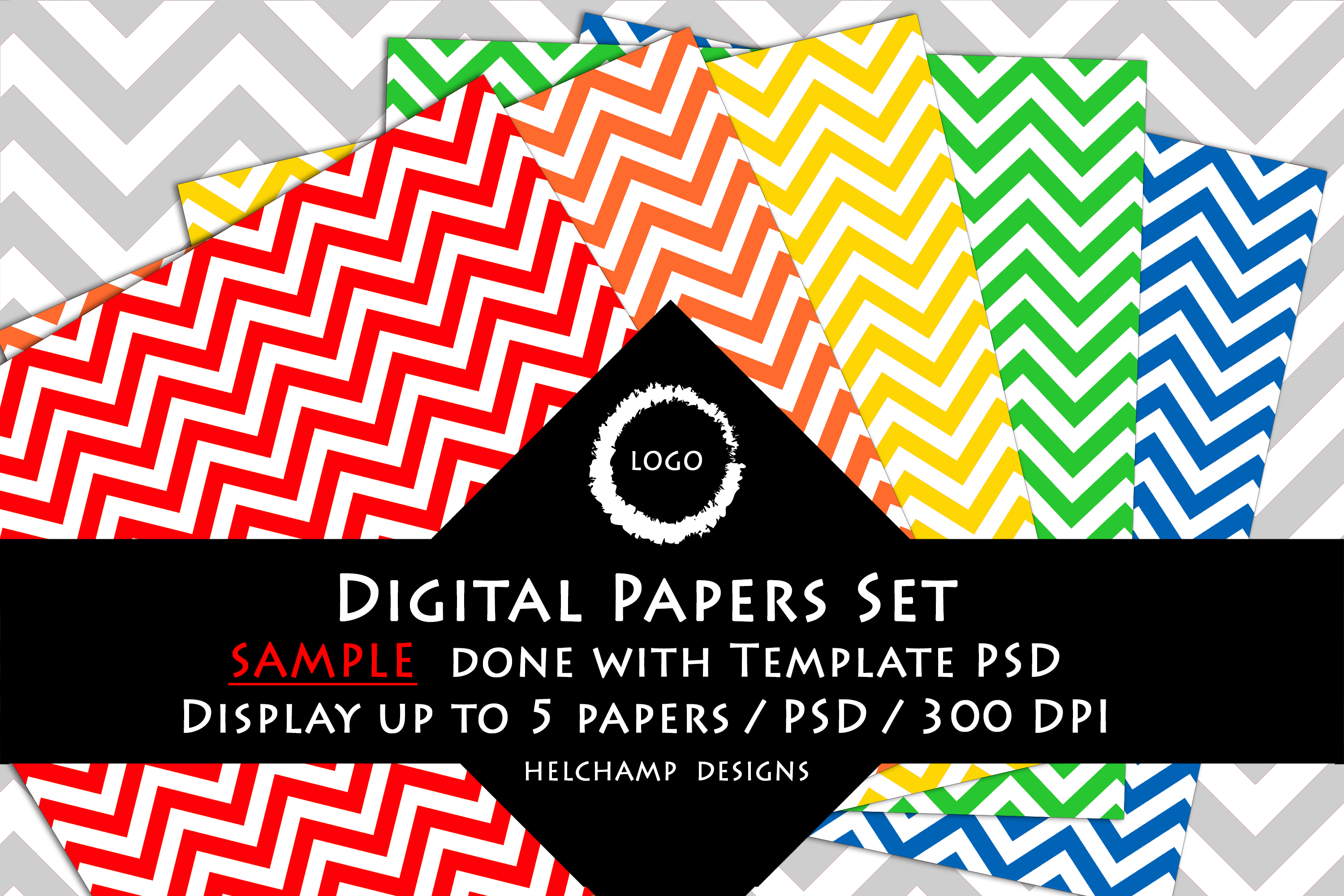 5 Panels Mockup for Digital Papers - M06 example image 4