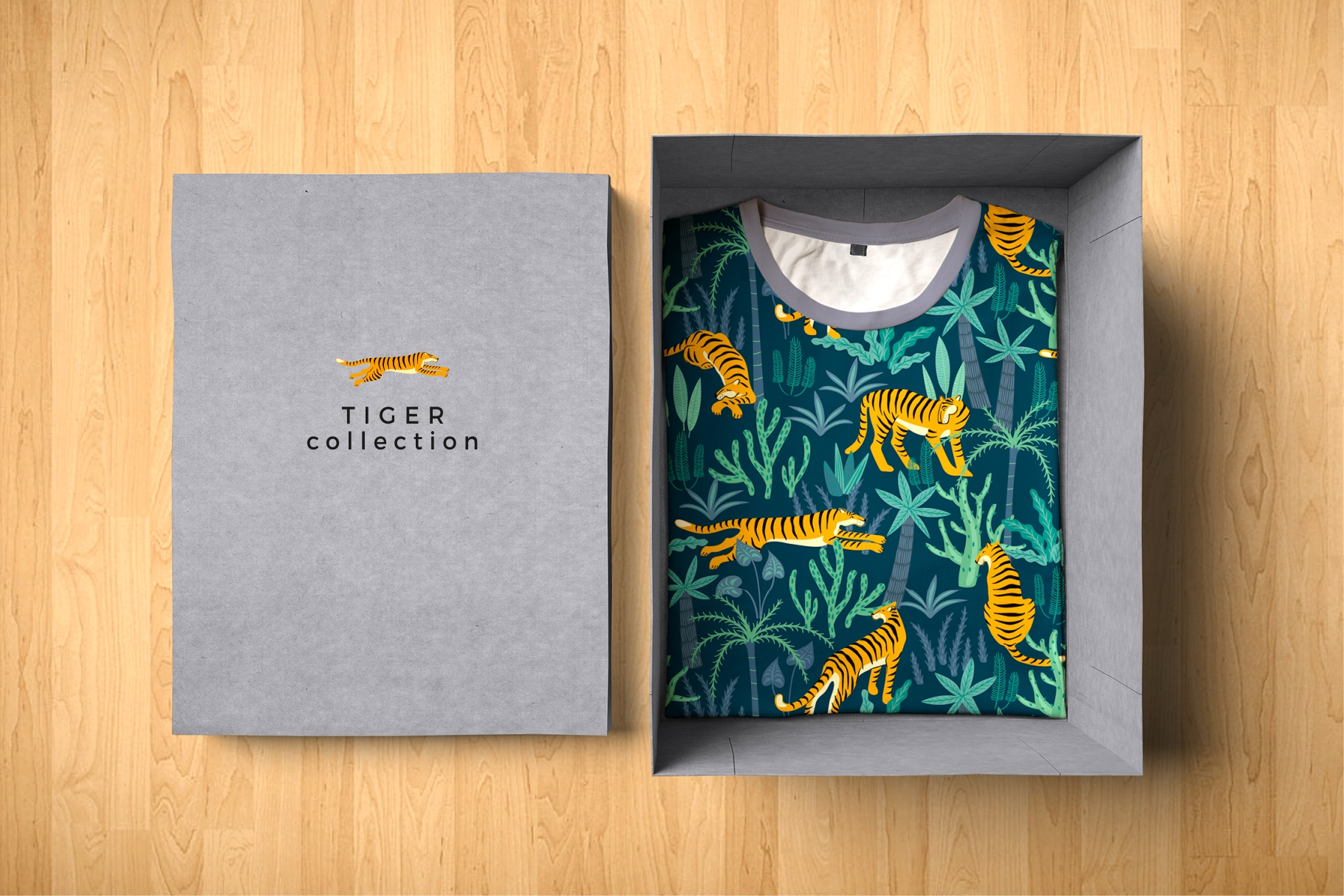 Tiger collection. Patterns & clipart example image 12
