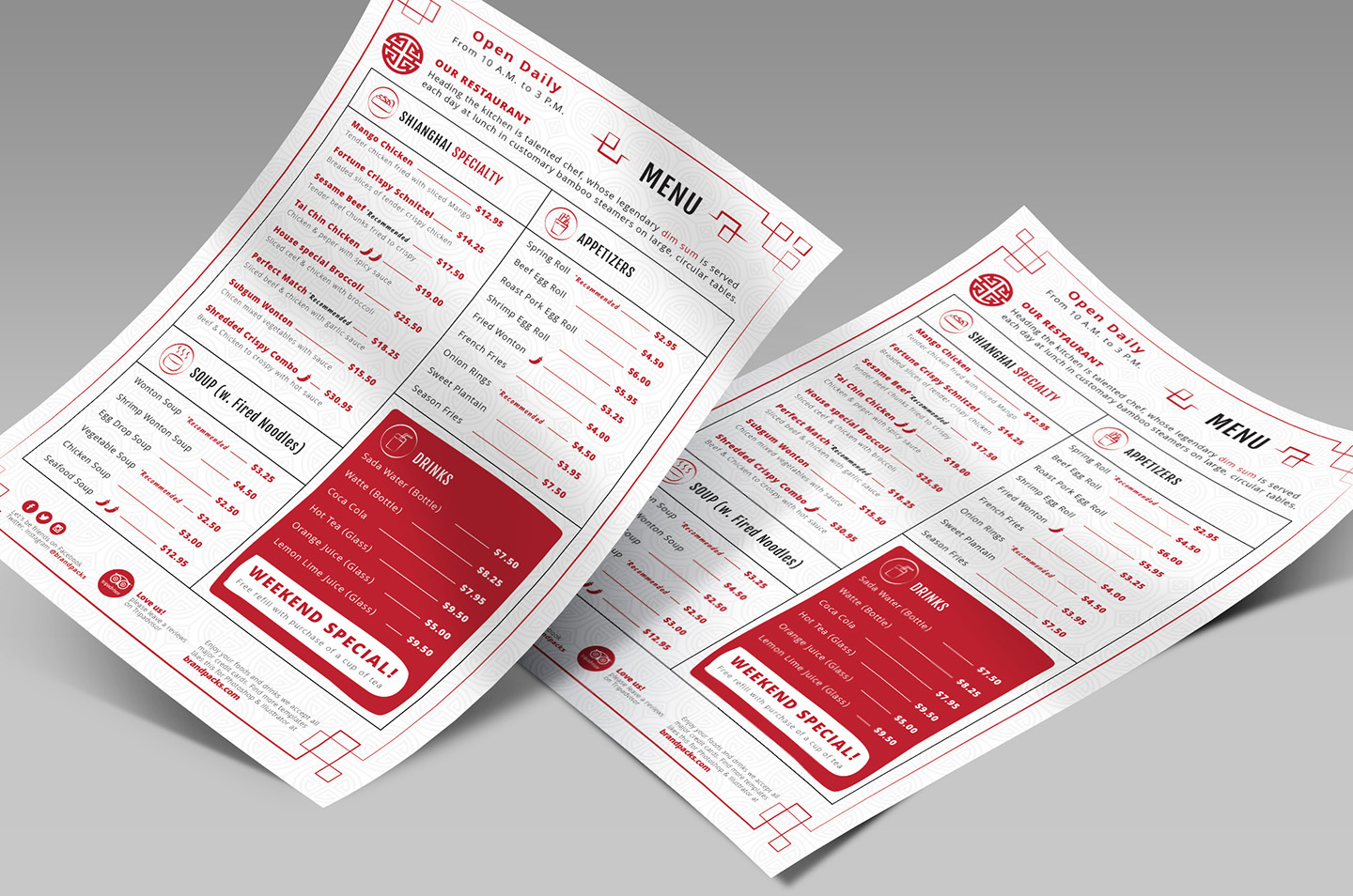 Chinese Menu & Flyer Template example image 5
