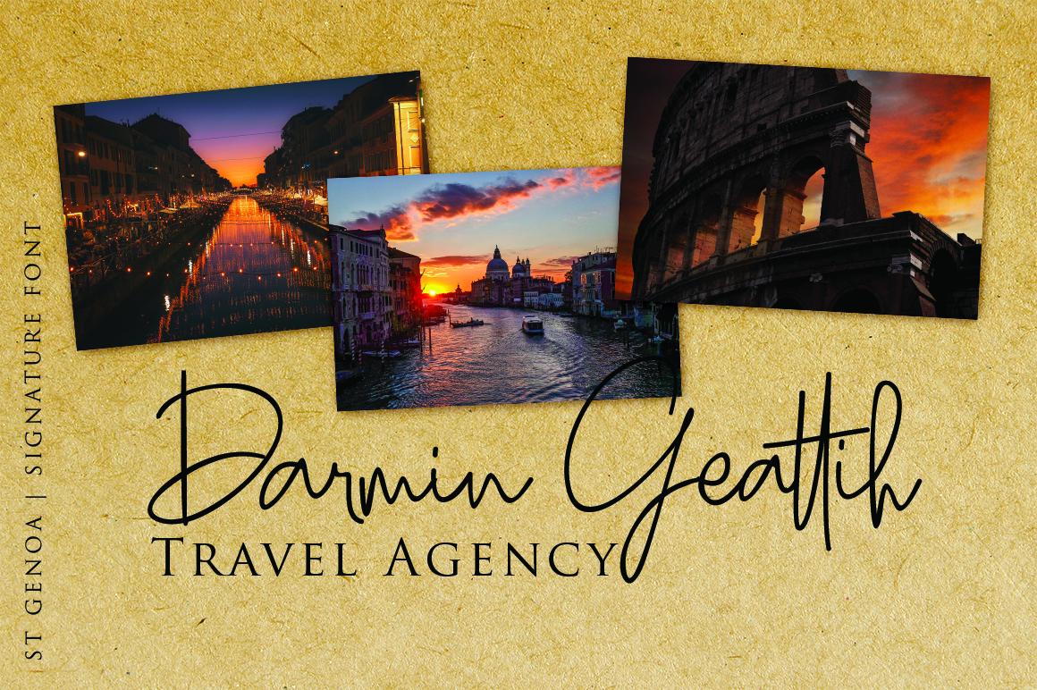 St. Genoa - Luxury Signature Font example image 2