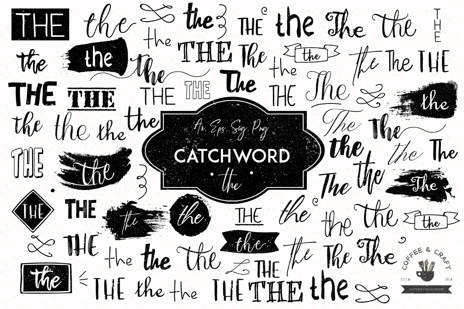 Catchword - the example image 1
