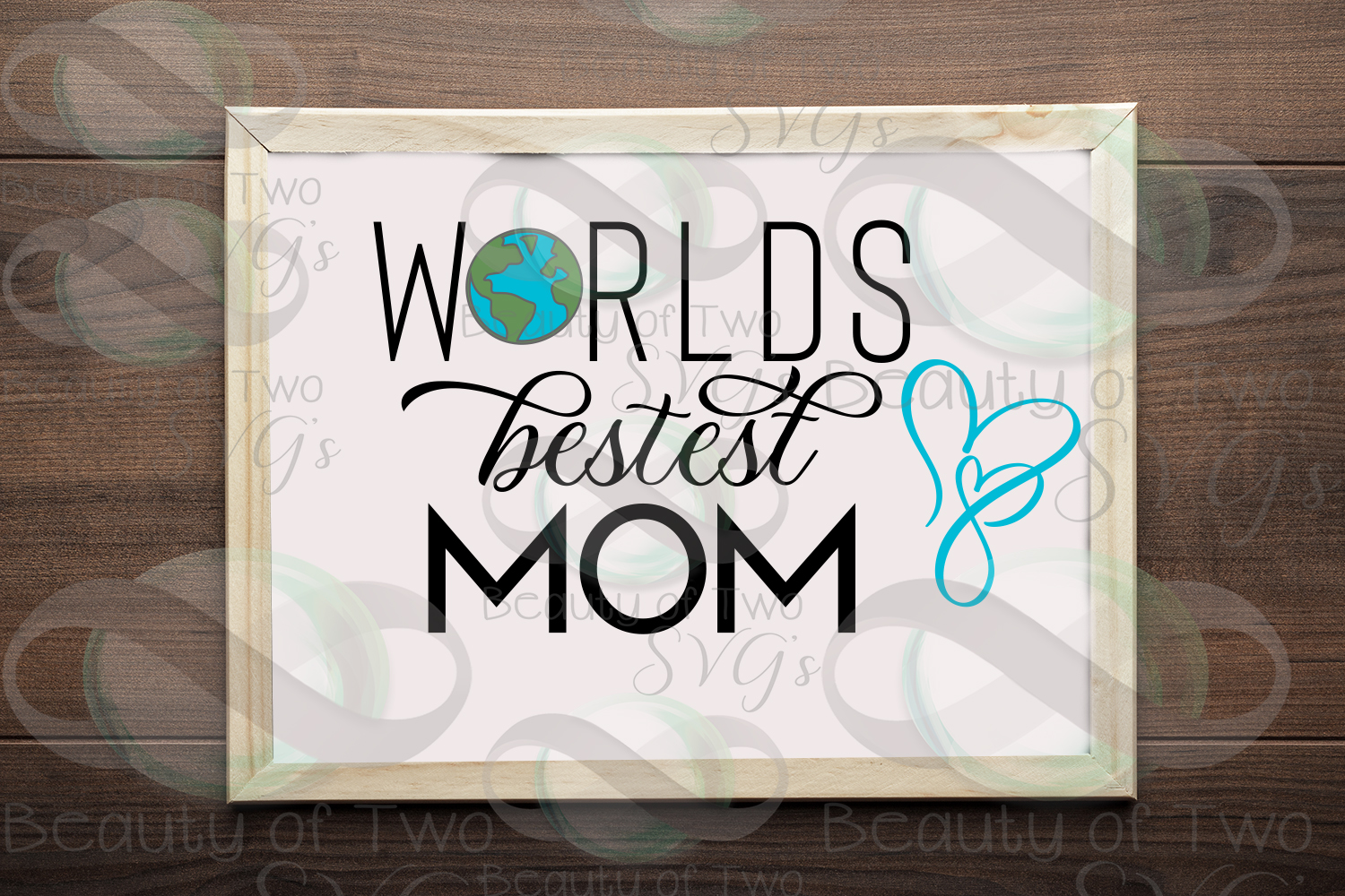 Mothers Day svg & png, Best Mom svg, Worlds Best Mom svg, example image 1