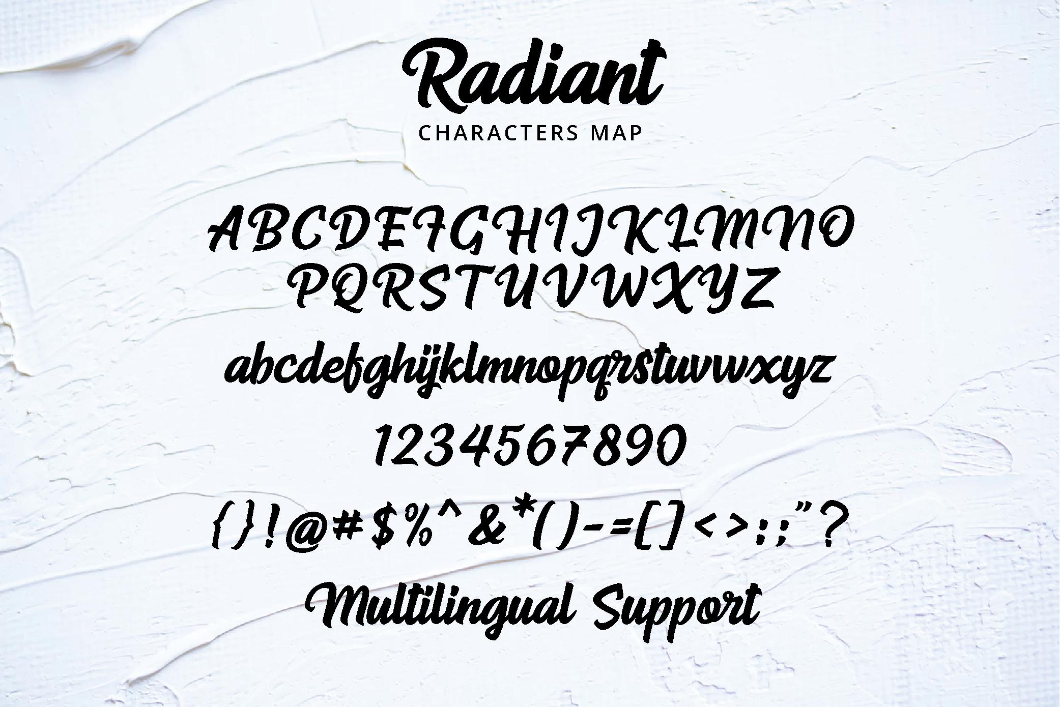 Radiant Iconic Script example image 10