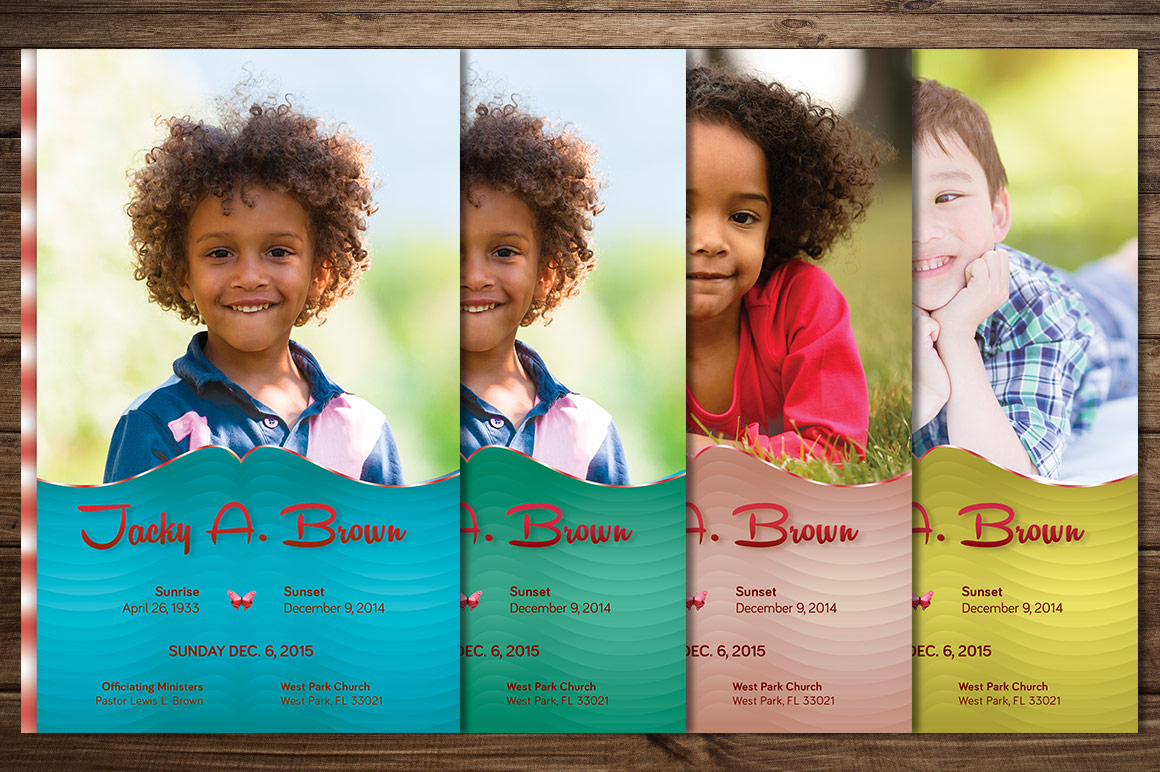 Child Funeral Program Template Photoshop example image 5