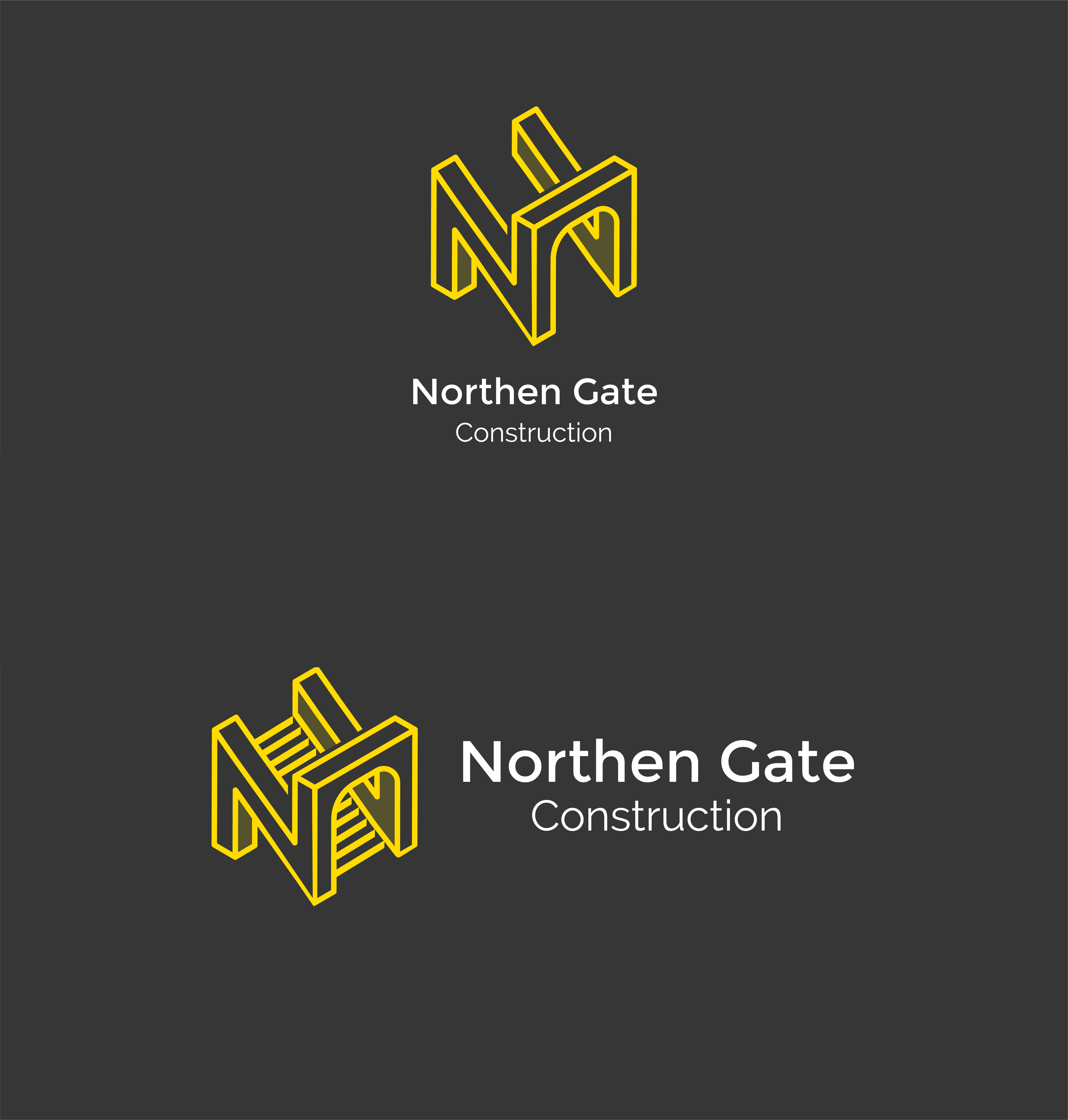 Letter N - Construction Gate Bridge Logo Logo Template example image 11