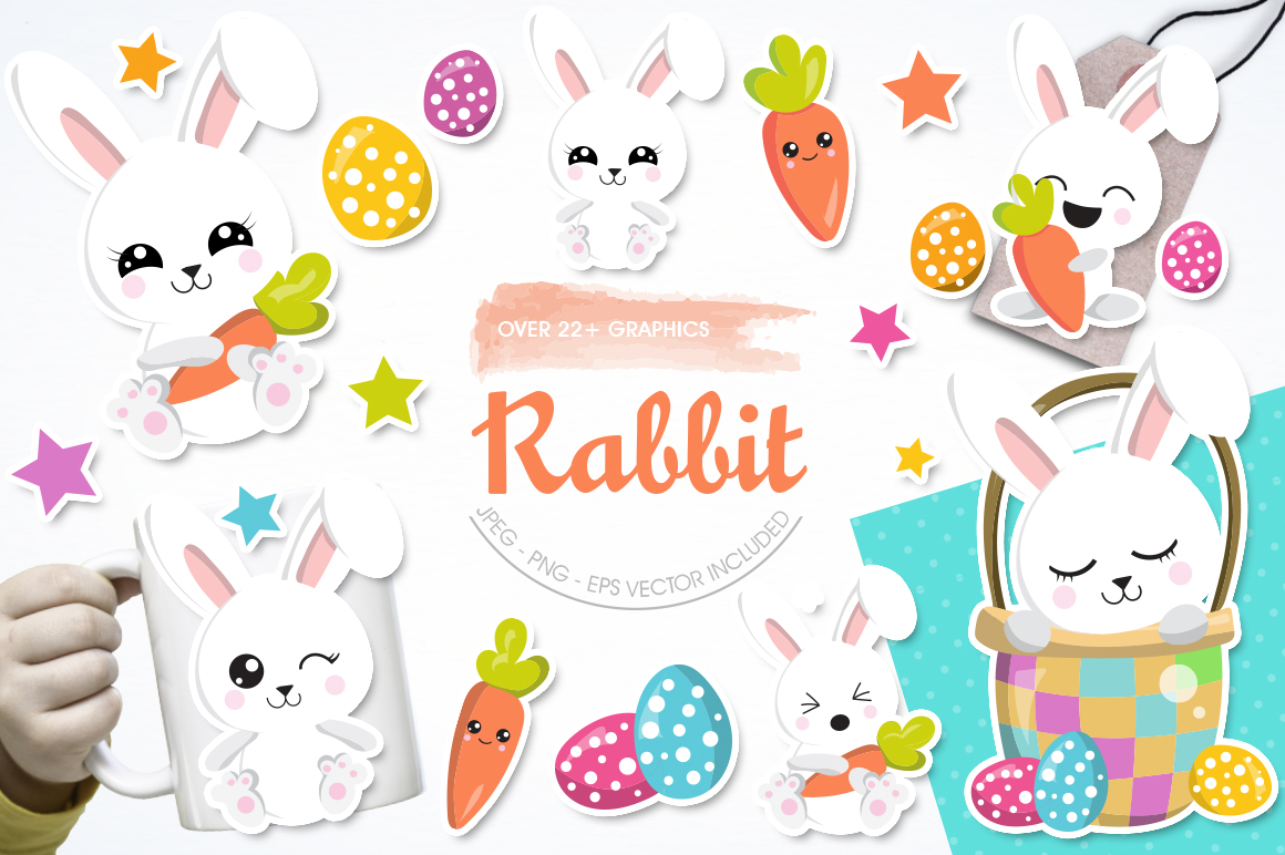 Rabbit graphic and illustrations example image 1