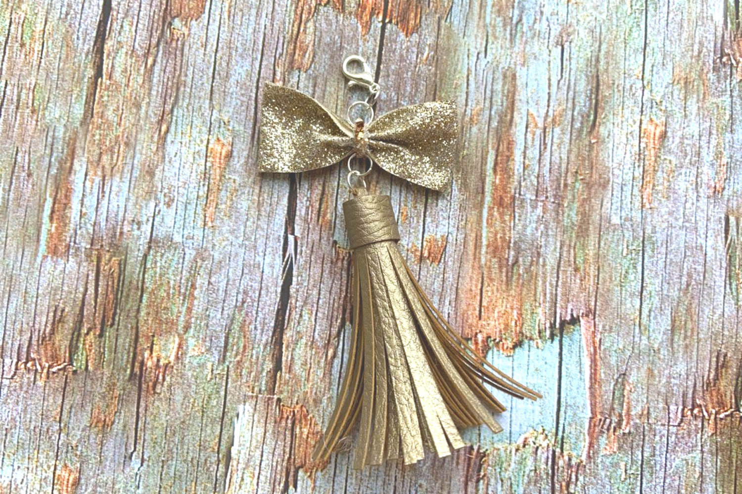 9 Sizes Tassel Templates. Paper tassels. Faux leather Tassel example image 3