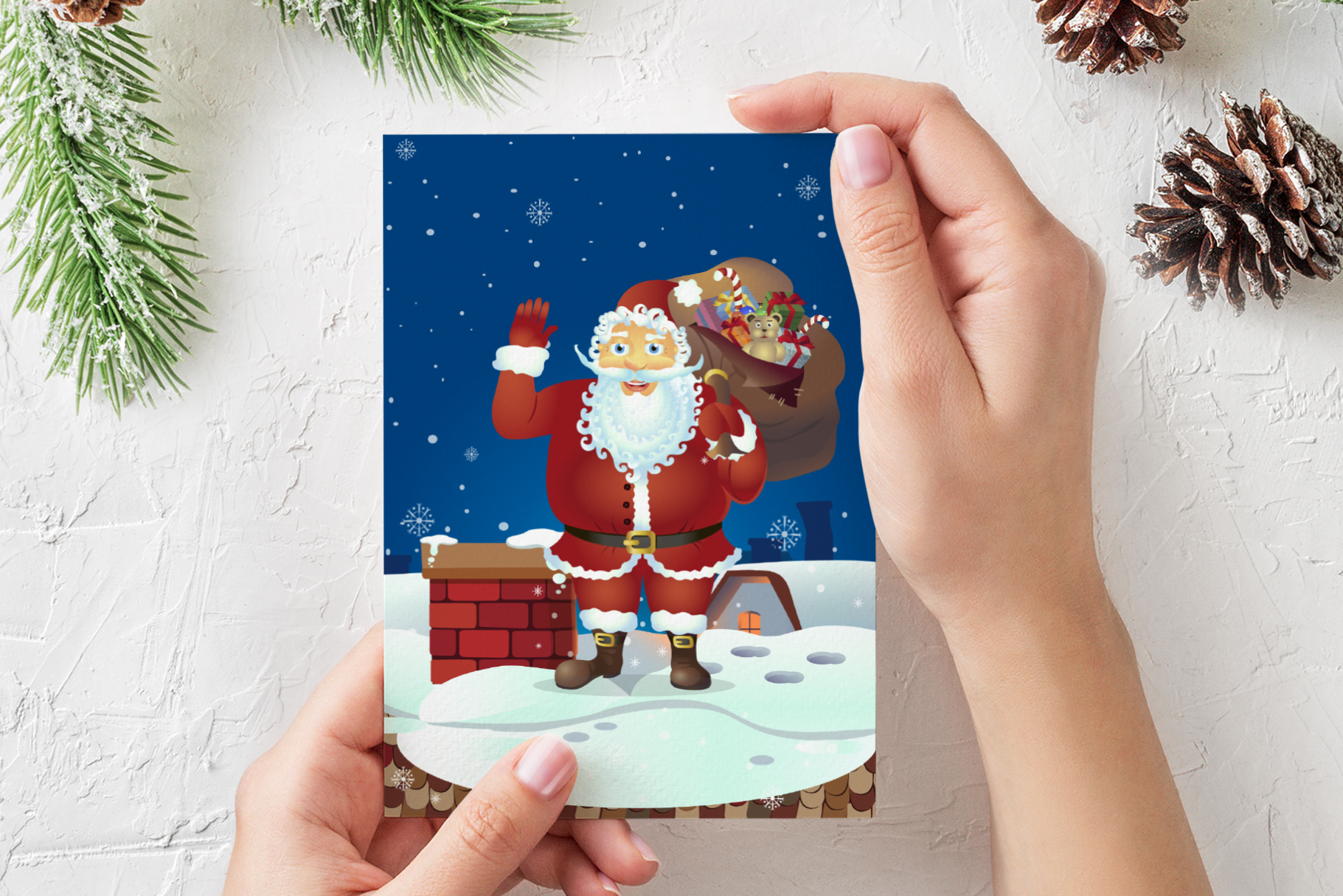 Happy Santa Merry Christmas Set vector collection example image 4
