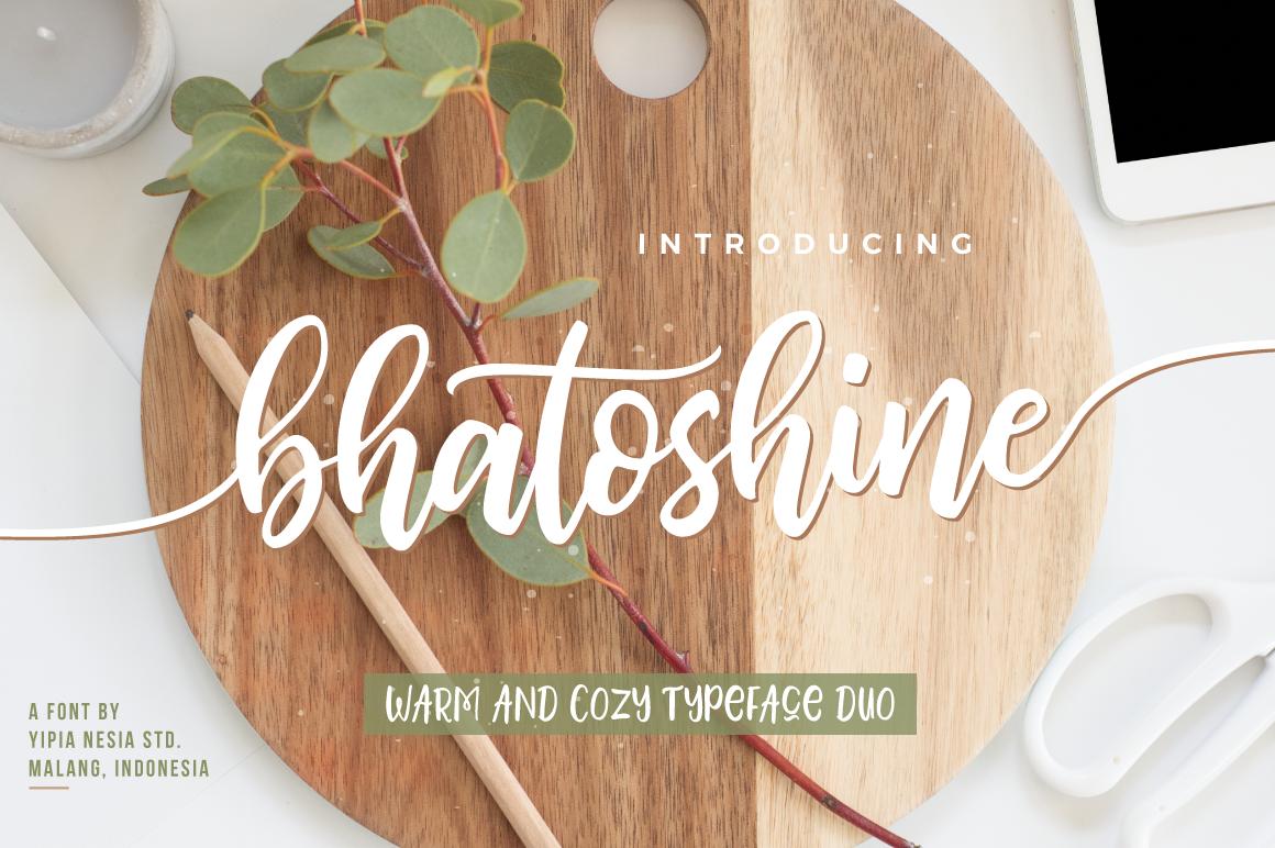 Bhatoshine Font Duo example image 1