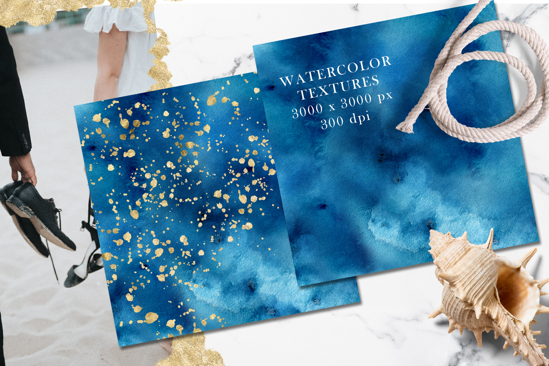 Ocean wedding invitations suit example image 4
