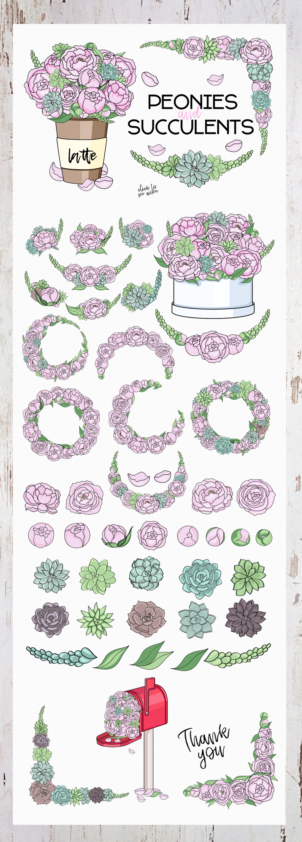 Peonies and Succulents example image 8