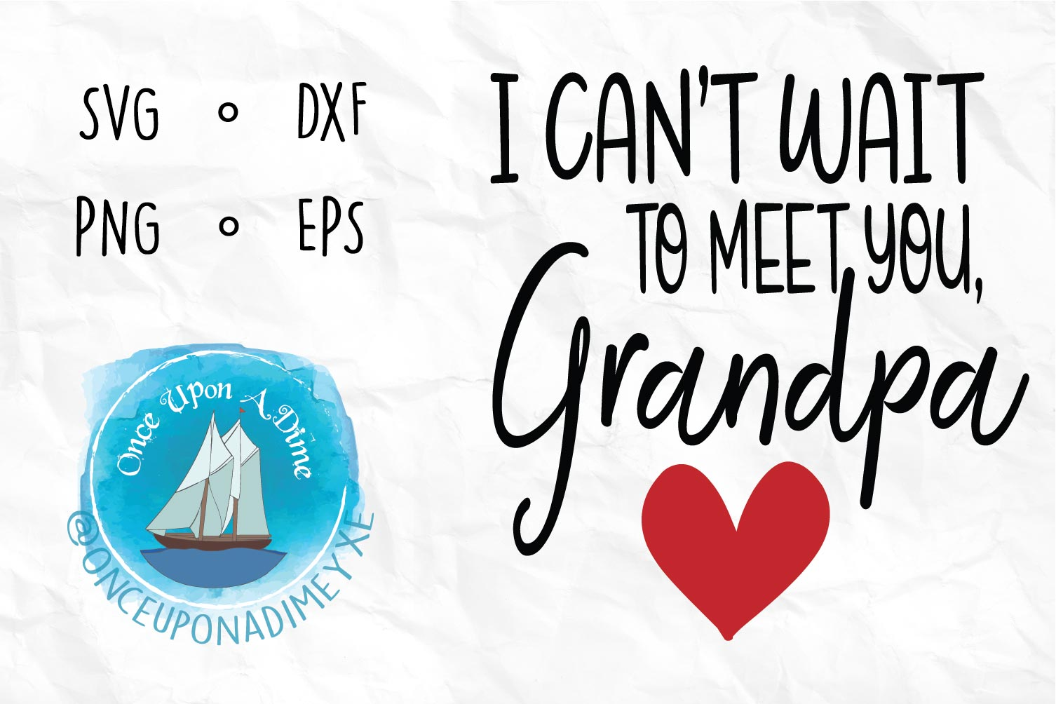 Meet You, Grandpa | Baby| Baby Announcement SVG Cut File example image 1