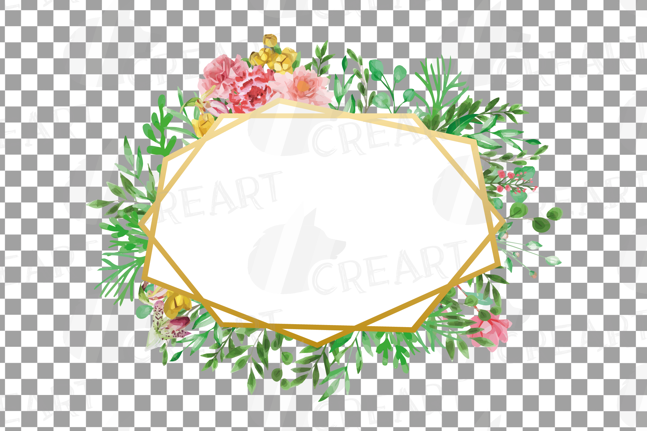 Watercolor floral floral frames and borders clip art pack example image 20
