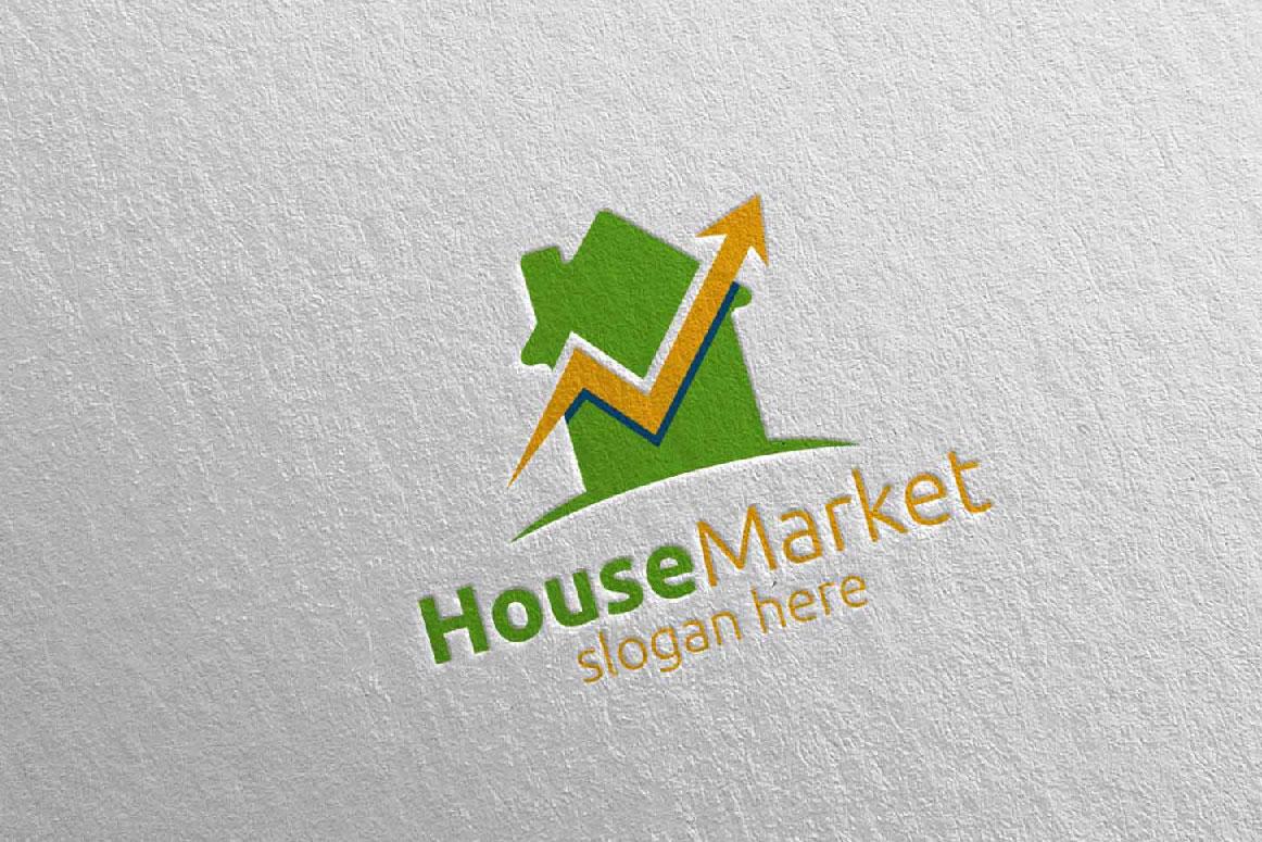 Real Estate Marketing Financial Advisor Logo Design 21 example image 3