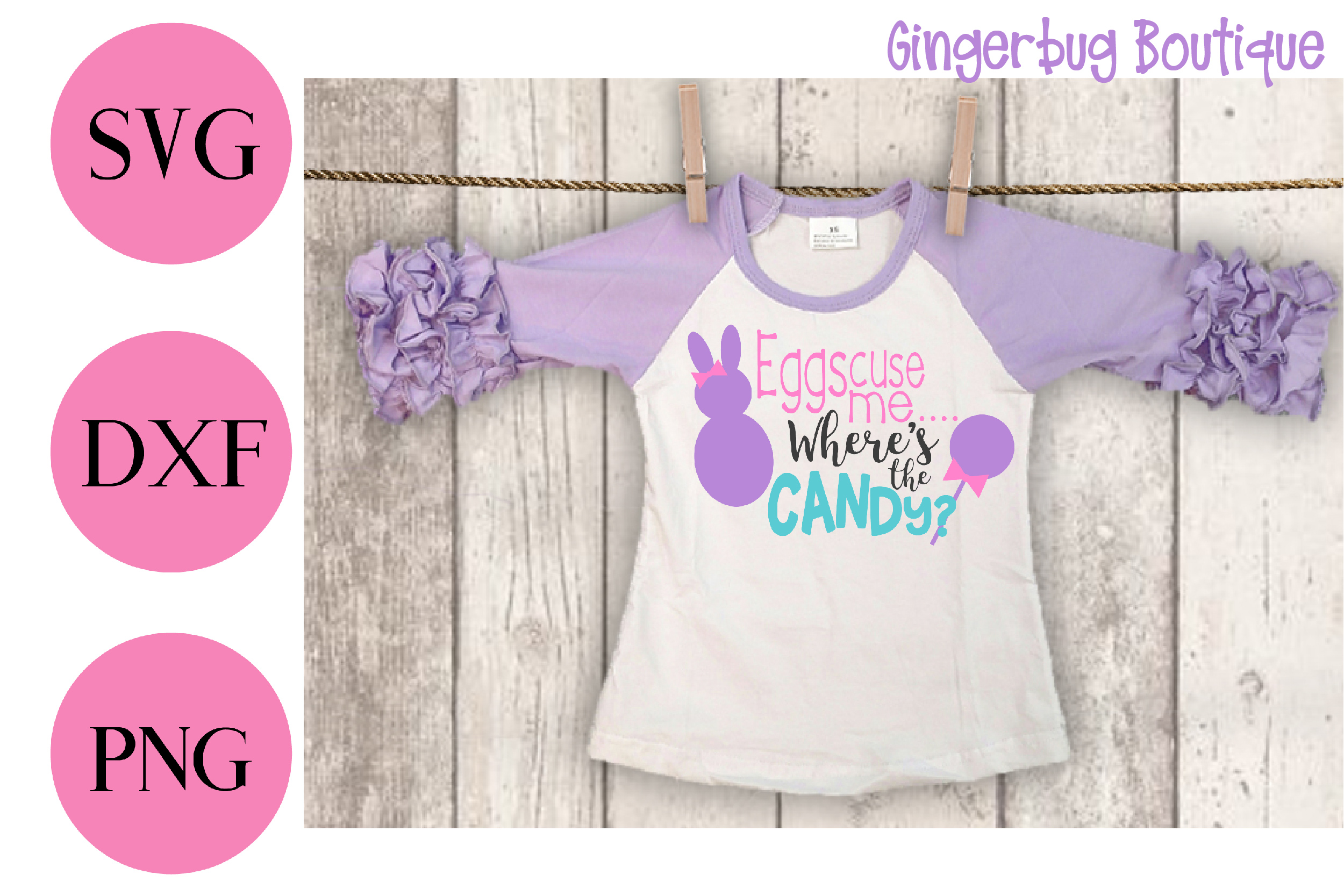 Easter svg, Easter shirt, Girl, Easter bunny, SVG, DXF, PNG example image 2