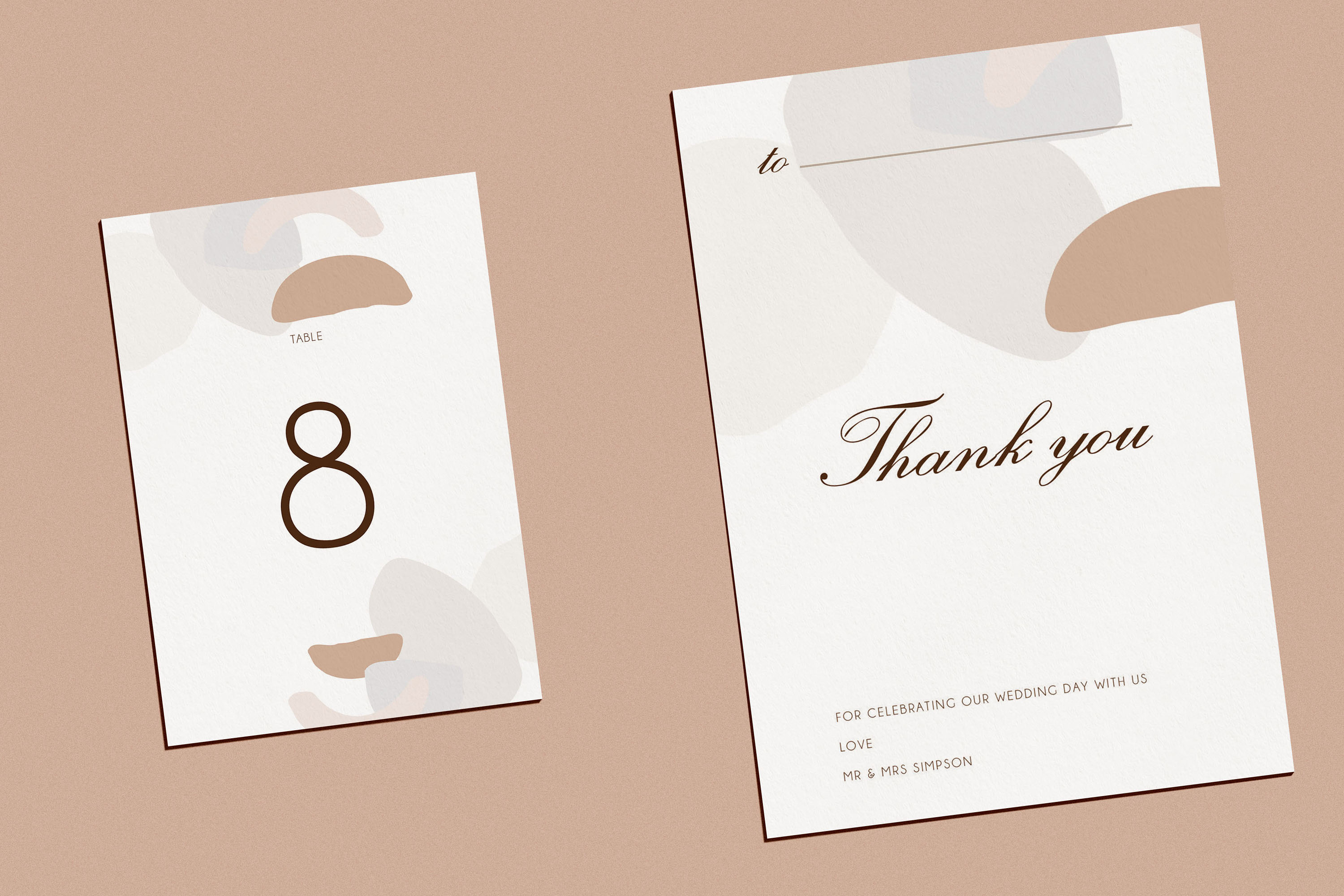 Abstract style Wedding Invitation Suite example image 2