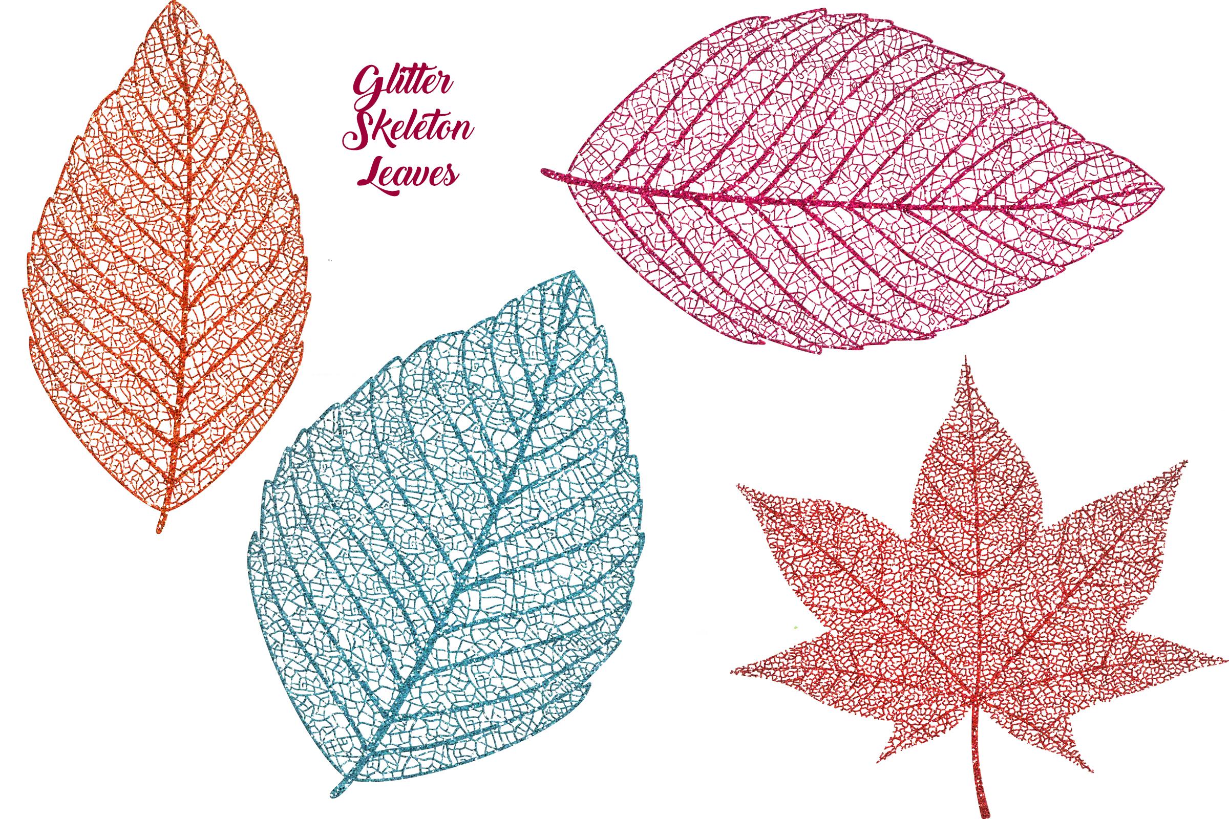 Autumn Glitter Leaf Clip Art example image 5