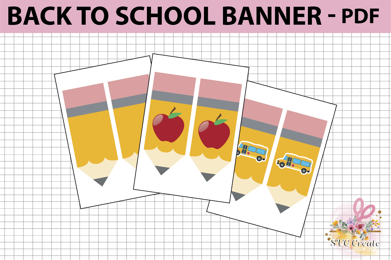 School printable banner, back to school banner example image 2
