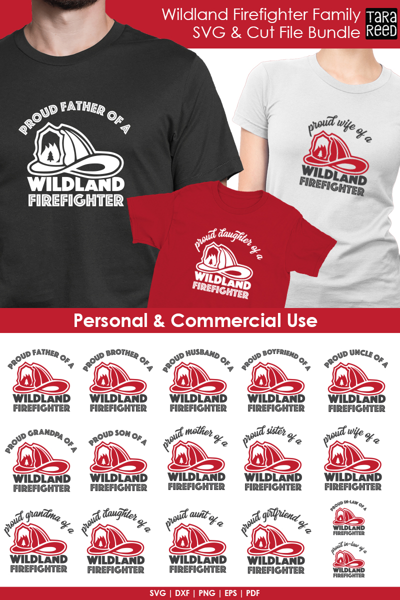 Wildland Firefighter Family - Firefighter SVG and Cut Files example image 2
