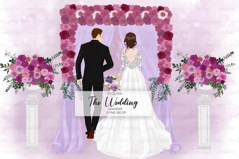 Bride Clipart Wedding Clipart Bride Groom Clipart Bridal example image 1