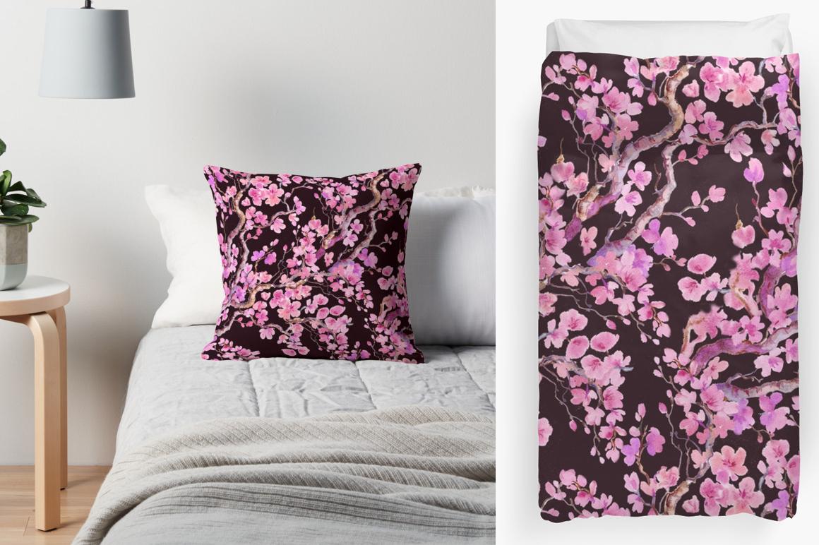 Sakura .seamless pattern.floral pattern example image 4